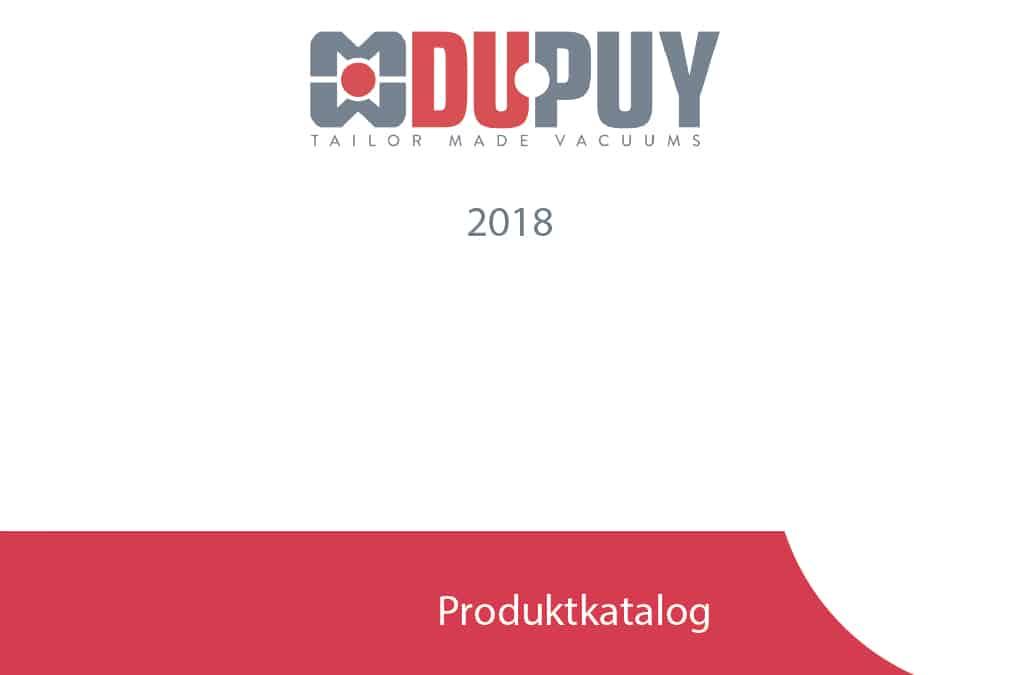 Der neue DU-PUY Industriesauger Produktkatalog 2018