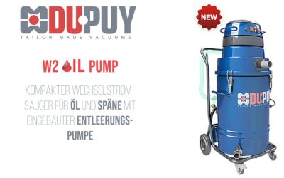 Der W2 OIL PUMP mit eingebauter Entleerungspumpe
